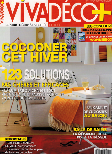 Parution magazine Viva Déco janvier 2017