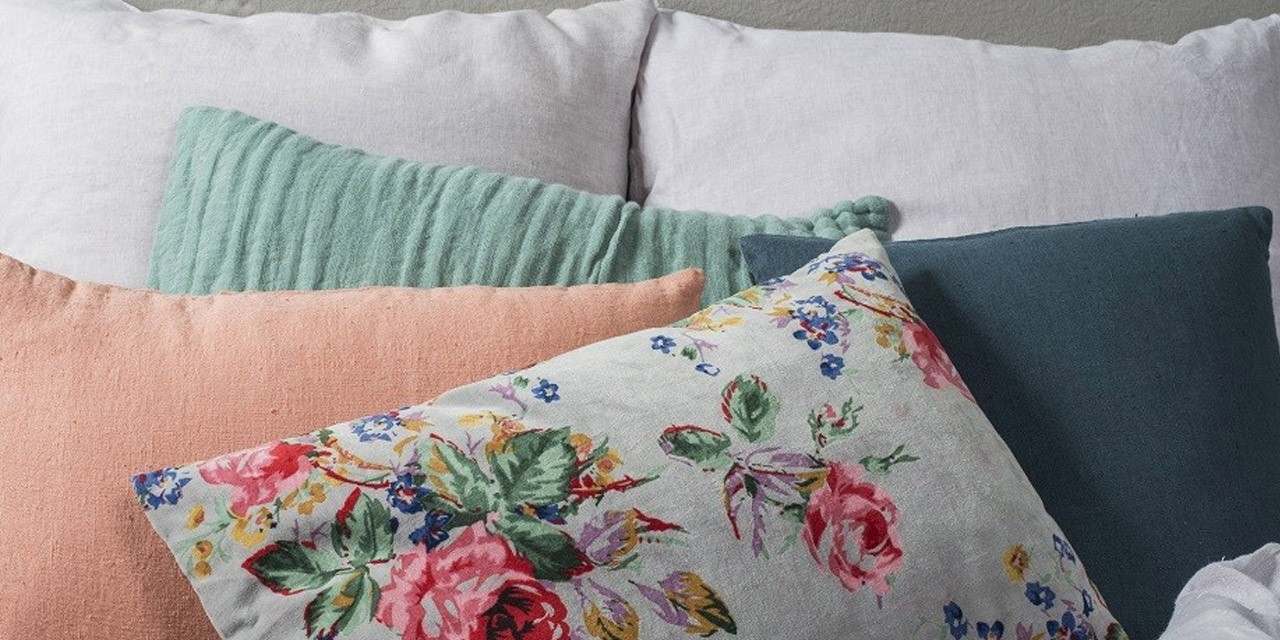 flower birdy coussin lin