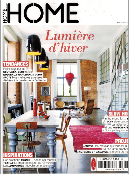 Parution magazine HOME Janvier 2017