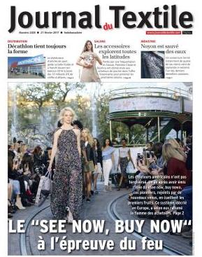 Parution presse magazine Le journal du textile février 2017