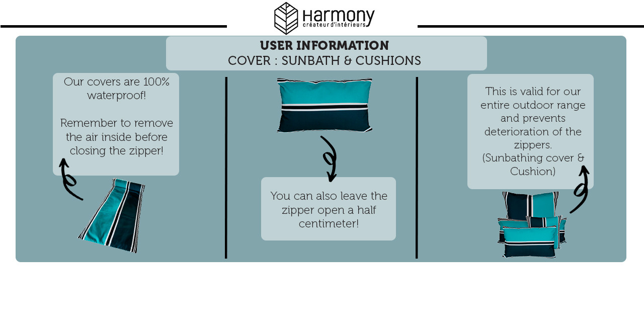USER INFORMATION : OUTDOOR COVERS